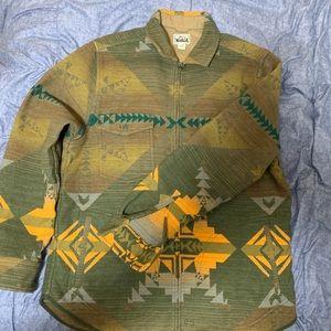 Woolrich full zip southwest jacquard flannel